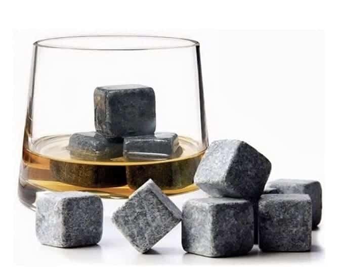 Merchandising für Getränkehersteller, Eiswürfel aus Stein