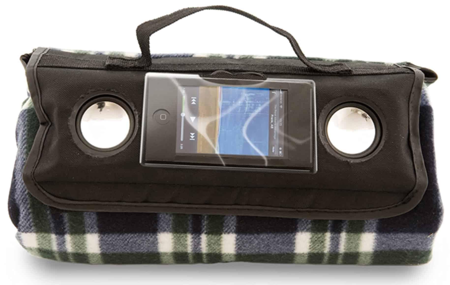 Werbemittel für IT & Consulting, Picknickdecke mit integrierten Boxen