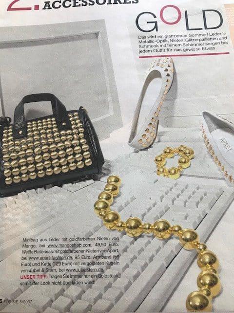 Für Sie Kugelkette gold